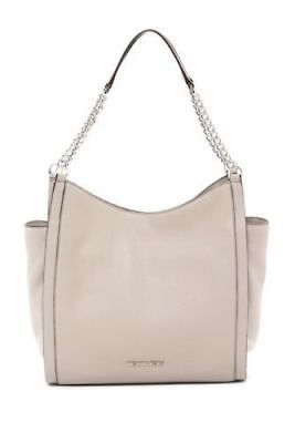 NWT Michael Kors Newbury Leather Chain Tote Shoulder Bag Cement Original Packagi