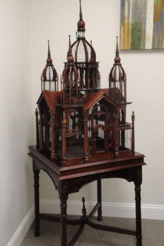 Antique Wood Bird Cage Ebay