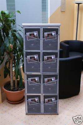 aufwickelbarer Prospektständer für 8 x DIN A4 + Tasche