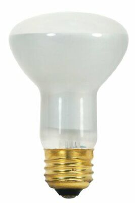 Satco S8519 130-Volt 45-Watt R20 Medium Base Light Bulb, Frosted