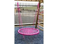 New Kids Basket Crows Nest swing Seat Set for Climbing Frame or Tree