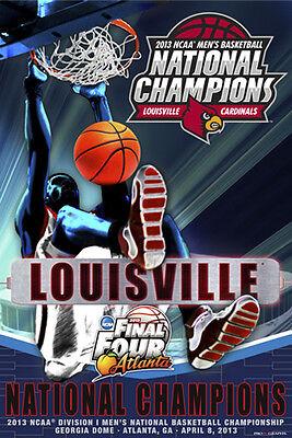 LOUISVILLE CARDINALS 2013 NCAA Men's Basketball NATIONAL CHAMPIONS POSTER 2013 Ncaa Mens Basketball