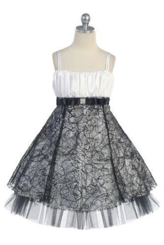 Black And White Flower Girl Dress Ebay