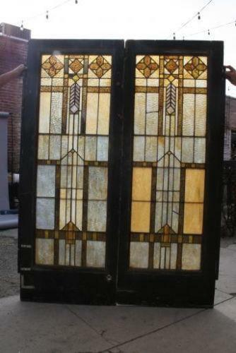 Arts And Crafts Stained Glass Window Ebay