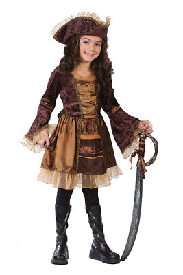 Girls Sassy Victorian Pirate Costume Size Small 4-6