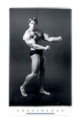 Arnold Schwarzenegger CONFIDENCE Original Pumping Iron Poster Print 24x36 *NICE*