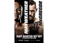 UFC MCGREGOR VS MAYWEATHER 24x36 POSTER BOXING FIGHTING MMA CHAMPION LEGENDARY!!