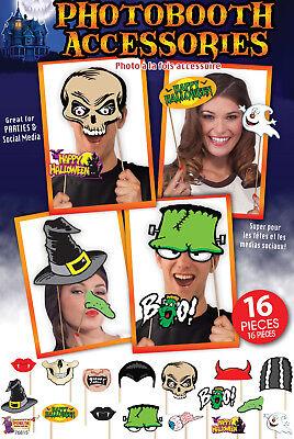 Halloween Party Foto Verkleidung Grusel Photo Booth Props Selfie Scherzartikel ()