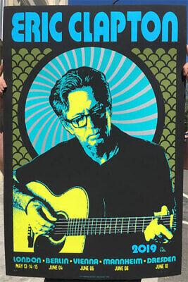 Eric Clapton 2019 UK European Tour Poster Scrojo Rare AP Silkscreen only 50 made