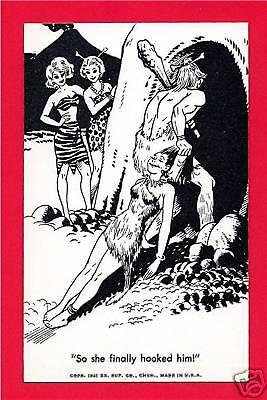 Caveman Gets Girl Exhibit Supply Comic Vending Card #14](Girl Caveman)