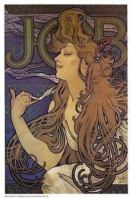 Mucha-job ((LAMINATED) ALPHONSE MUCHA JOB 1897  POSTER (61X91CM) PICTURE PRINT NEW)