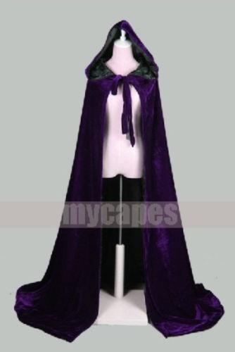 Purple Hooded Cape Ebay