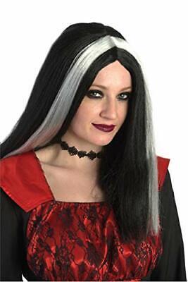 Black And White Wig Halloween Costume (Banana Costume Cruella Morticia Black and White Vampire Witch Costume)