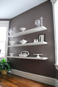 Lack wall shelves in white