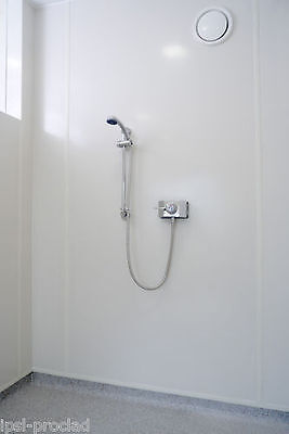 White gloss bathroom and shower boards 8 x 4 x 2mm