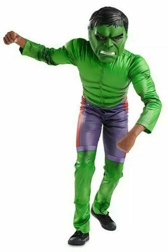 Disney Store Marvel Avengers Incredible HULK Deluxe Costume Boys 7/8 Nwt