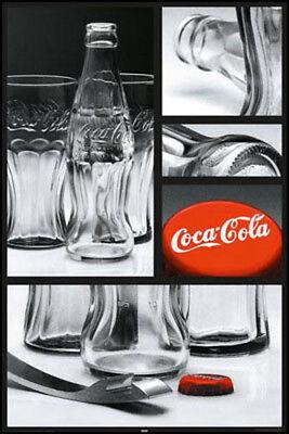 2x Poster Coca Cola Flasche Party Cafe Bar Couch Sofa Wand Tür Deko 61x91 NEU