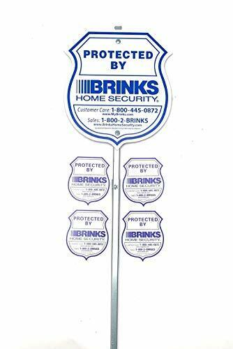 HOME YARD SECURITY ALARM SIGN AND 4 STICKERS DECAL REFLECTIVE PROTECTION SYSTEM