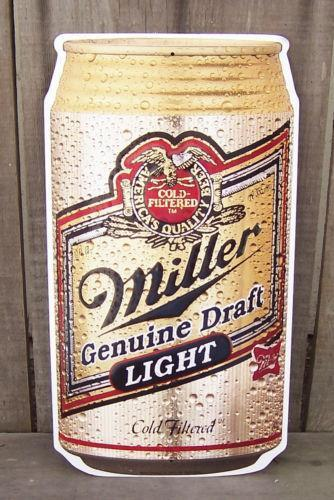 Miller Beer Tin Sign Ebay