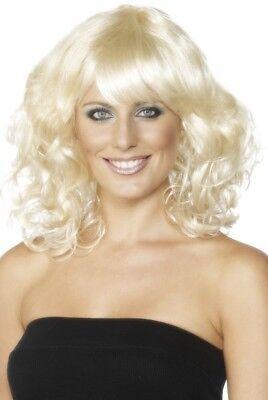 Perücke Blond Gewellt Halb Lang Acceoire Kostüm Kostüm - Blonde Perücken Für Halloween