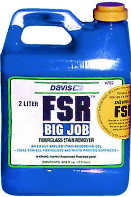 Davis Boat Marine FSR Fiberglass Stain Remover 67.8 oz. Big Job 2 Liter Bottle