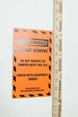 """""""Do Not Remove"""" Lockout Tag Orange 7-1/2"""" x 4-1/2"""""""