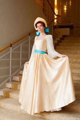 Anastasia Princess Costume Cosplay Cartoon Yellow Gold Dress Russia Clothing - Anastasia Costume