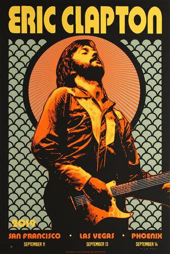Sold Out Eric Clapton 2019 US Tour Poster A/P San Francisco Las Vegas Phoenix