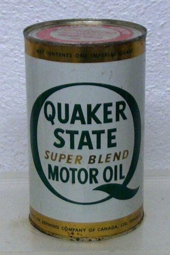 Quaker State Motor Oil Can Ebay