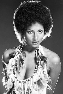 Pam Grier photo  low cut afro hairstyle iconic 1970's 11x17 Mini Poster - Hairstyles 1970s