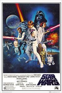 STAR WARS A New Hope Original Score POSTER 61x91cm NEW * Skywalker Vader Obi-wan