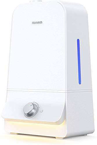 Homech Cool Mist Humidifier 6L, 26dB Quiet Ultrasonic Humidifiers for Large Bedr