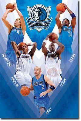 - POSTER Dallas Mavericks Team 2011 NBA Dirk Nowitzki Marion Kidd Odom Terry