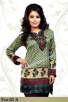 - Indian Bollywood Kurta Kurti Designer Women Ethnic Dress Top Tunic Pakistani New