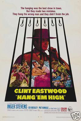 Hang Em High Clint Eastwood Vintage Movie Poster