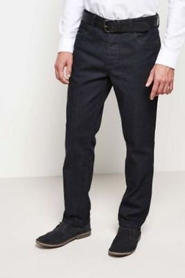 """Men`s New NEXT Classic Fit Coated Jeans W32""""-L30"""" with Leather Belt for sale  Shipping to Ireland"""