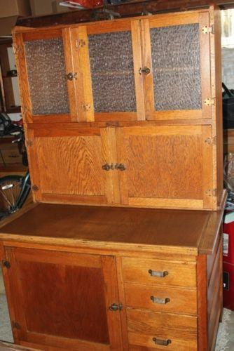 Oak Hoosier Cabinet Ebay
