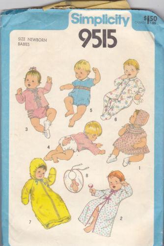Baby Layette Pattern Ebay