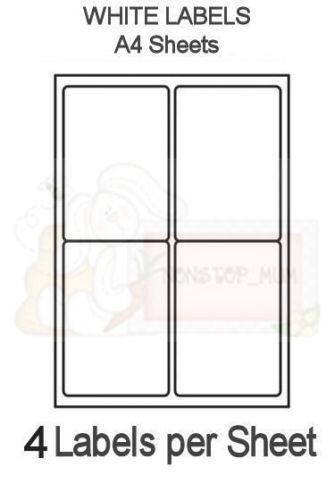 labels 4 per sheet ebay. Black Bedroom Furniture Sets. Home Design Ideas