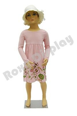 Child Plastic Realistic Mannequin Dress Form Display Ps-kd-5free Wig