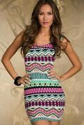 Multi Coloured Evening Dress
