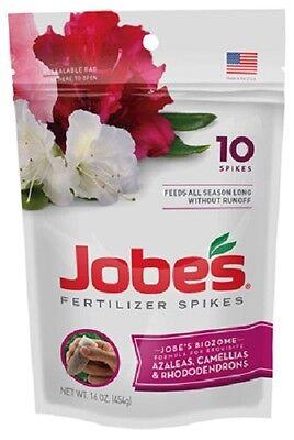 (1) JOBES 10 PACK AZALEA CAMELIA RHODODENDRON SPIKE FERTILIZER SPIKES - - Jobes Azalea
