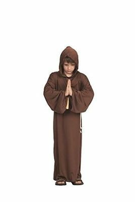 MONK RELIGIOUS BIBLICAL CATHOLIC PRIEST MEDIEVAL BOY CHILD COSTUME ROBE BROWN - Catholic Priest Costume