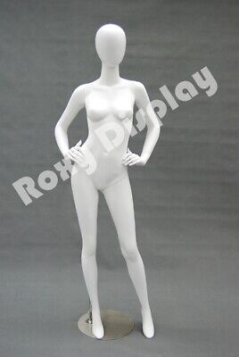 Fiberglass Female Mannequin Egghead Style Dress Form Display Md-a4w2--s