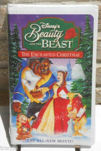 beauty and the beast the enchanted christmas vhs ebay