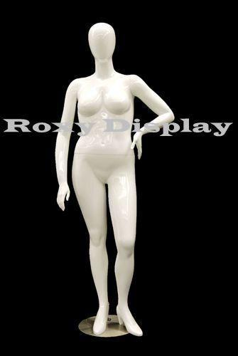 Female Plus Size Egg Head Mannequin Dress Form Display #MD-NANCYW3S
