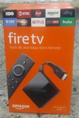 Brand New  Amazon Fire Tv Box 4K Ultra Hd Streamer With Alexa Sealed  2017