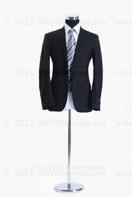 Male Mannequin Torso Adjustable Metal Stand Half Body Black Torso Pb-102