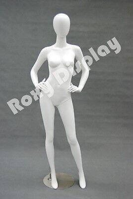 Female Highend Fiberglass Egg Head Mannequin Display Dress Form Md-a4w2-s