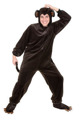 Monkey Adult Halloween Costume Jungle Circus Animal Brown Unisex Plus Size 3X](Circus Monkey Costume)